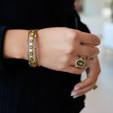 Black & Gold Slide On Bangle