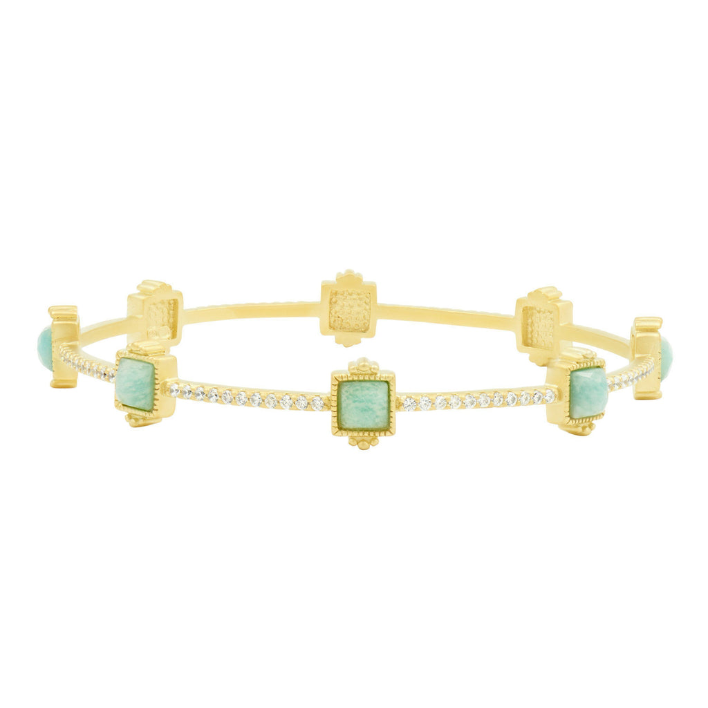 Amazonian Allure Square Station Bangle