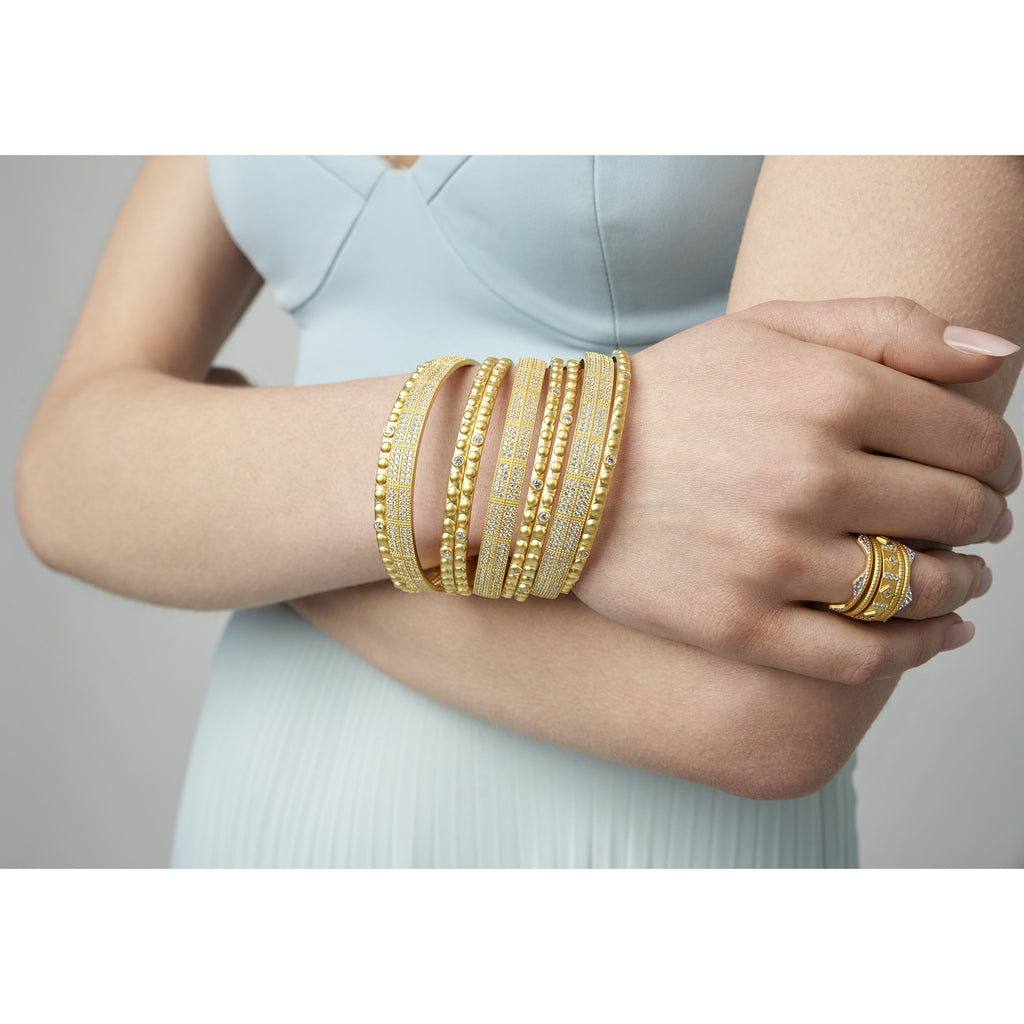 Amazonian Allure Pavé Stack (Set of 3) Bangles