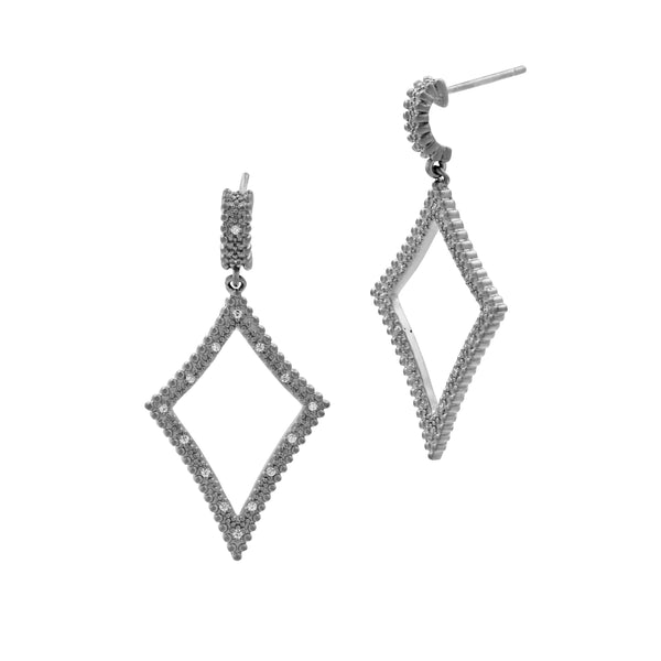 Amazonian Allure Open Drop Diamond Earrings
