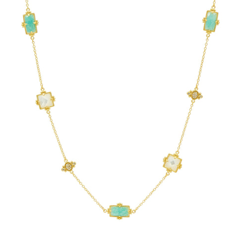 Amazonian Allure Multi Stone Station Necklace - FREIDA ROTHMAN