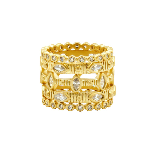 Amazonian Allure Stack (Set of 5) Rings - FREIDA ROTHMAN