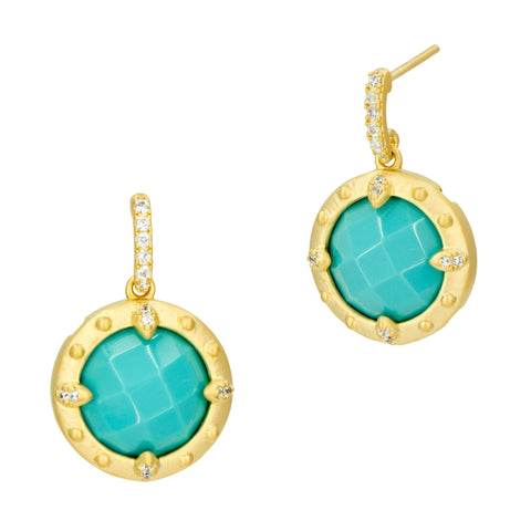 Amazonian Allure Turquoise Petite Drop Earrings - FREIDA ROTHMAN