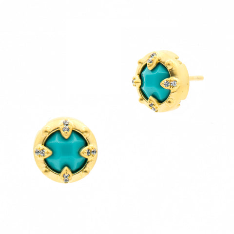 Fleur Bloom EMPIRE Turquoise Stud Earrings