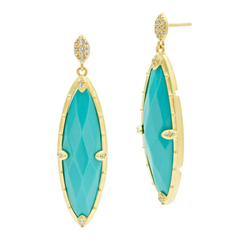 Amazonian Allure TQ Drops Earrings - FREIDA ROTHMAN