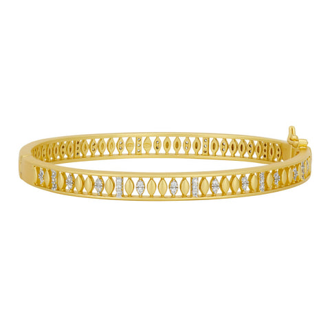 Armor of Pavé Hinge Bangle