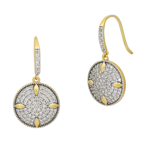 Petals and Pavé Disc Earring