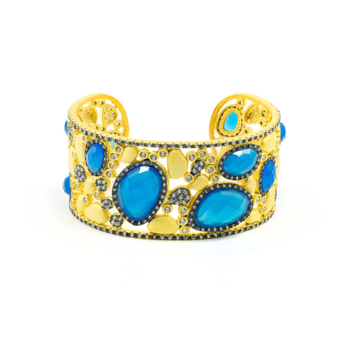 Baroque Blues Statement Cuff
