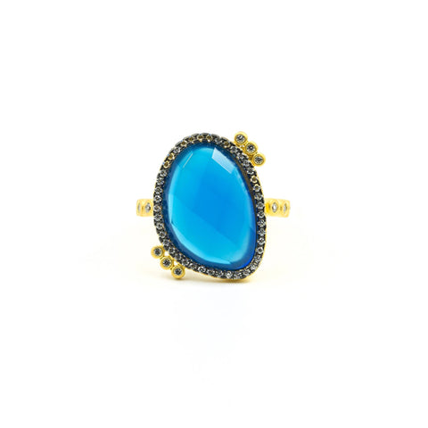 Baroque Blues Stone Cocktail Ring