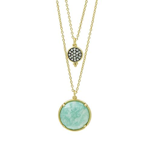 Amazonite Double Drop Necklace