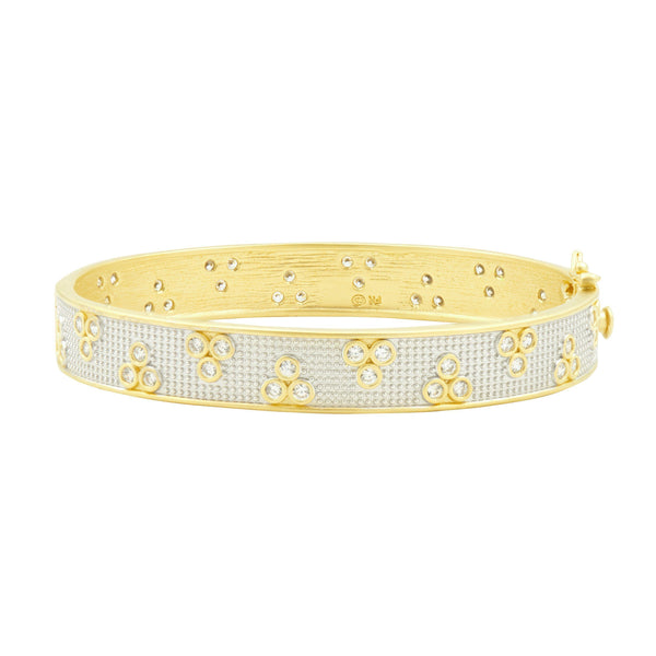 Fleur Bloom Hinge Bangle - FREIDA ROTHMAN