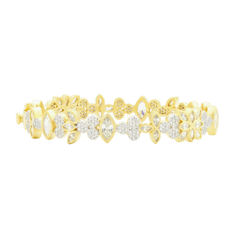 Fleur Bloom Petal Hinge Bangle - FREIDA ROTHMAN