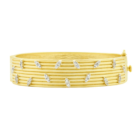 Fleur Bloom EMPIRE Layered Wide Hinge Bangle
