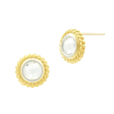 Fleur Bloom Circular Stud Earrings - FREIDA ROTHMAN
