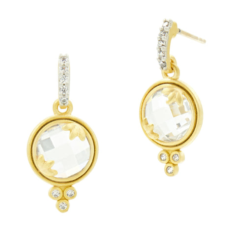 Fleur Bloom Mini Drop Earrings - FREIDA ROTHMAN
