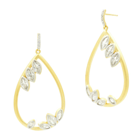 Fleur Bloom Teardrop Drop Earrings - FREIDA ROTHMAN