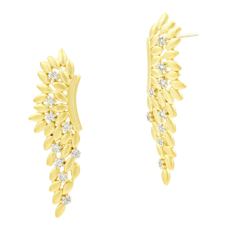 Fleur Bloom EMPIRE Angel Wing Earrings
