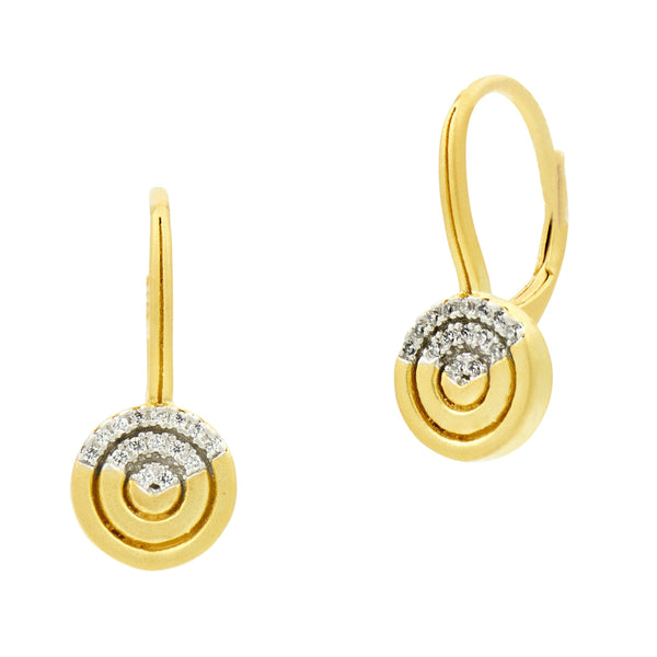 Fleur Bloom EMPIRE Circular Ring Short Drop Earrings