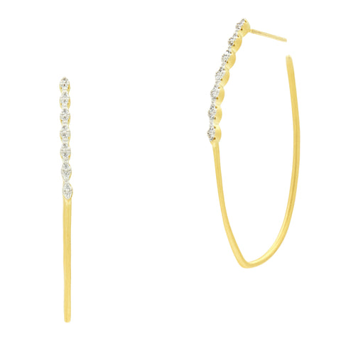 Fleur Bloom EMPIRE Delicate Hoop Earrings