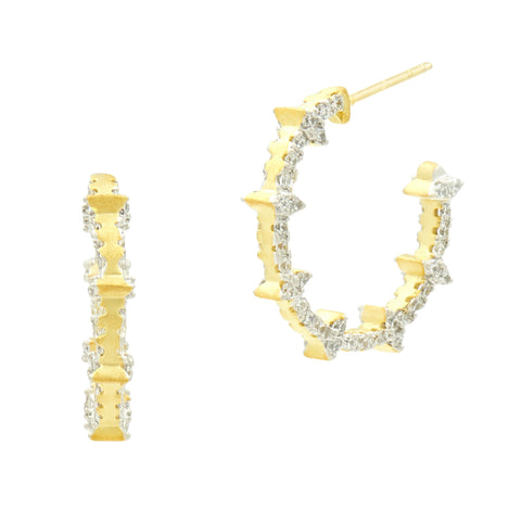 Fleur Bloom EMPIRE Embellished Small Hoop Earrings