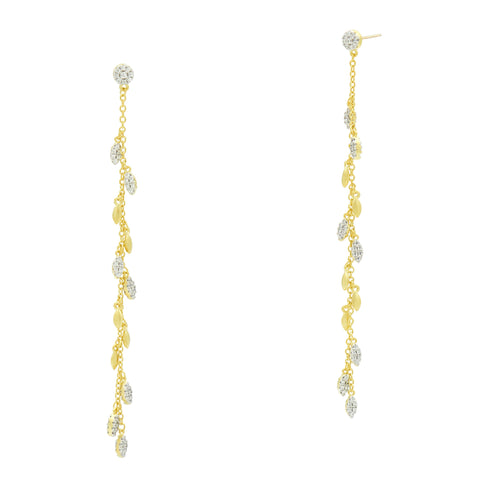 Linear Charm Drop Earrings