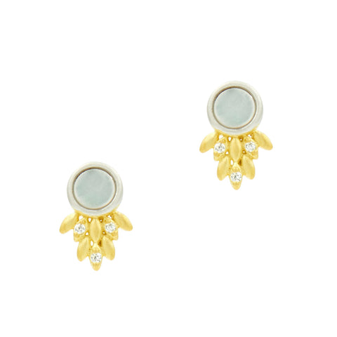 Fleur Bloom Mother of Pearl Stud Earrings