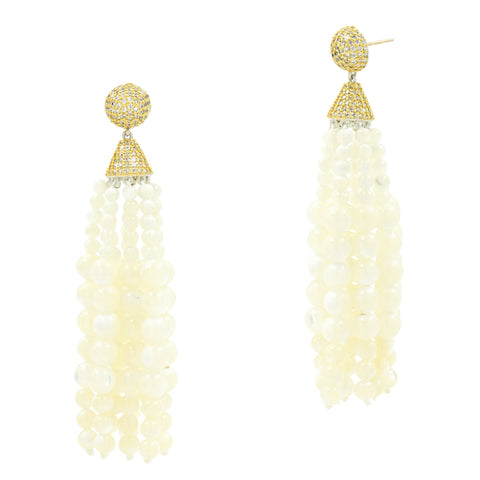 Fleur Bloom EMPIRE Fringe Drop Earrings
