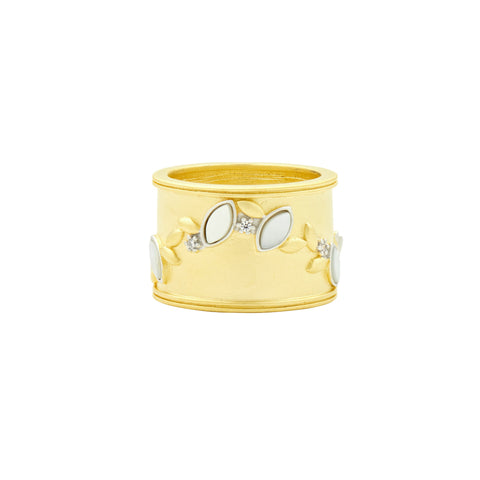 Fleur Bloom EMPIRE Mother of Pearl Cigar Band Ring