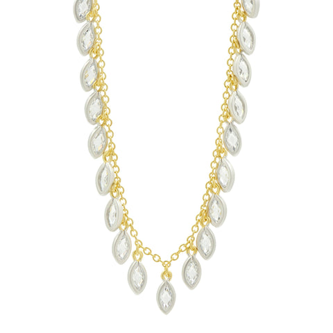 Fleur Bloom Petal Fringe Necklace - FREIDA ROTHMAN