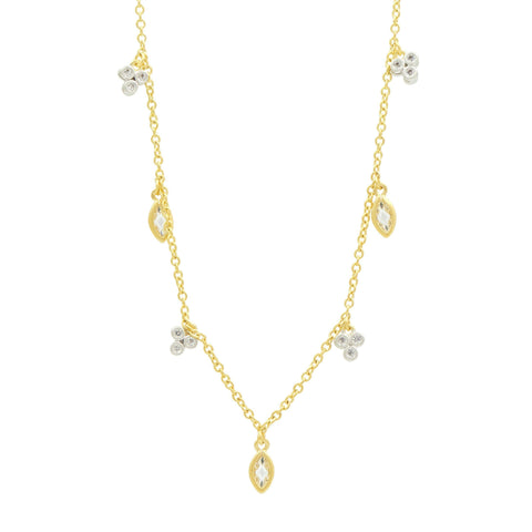 Fleur Bloom Petal Charm Long Strand Necklace - FREIDA ROTHMAN