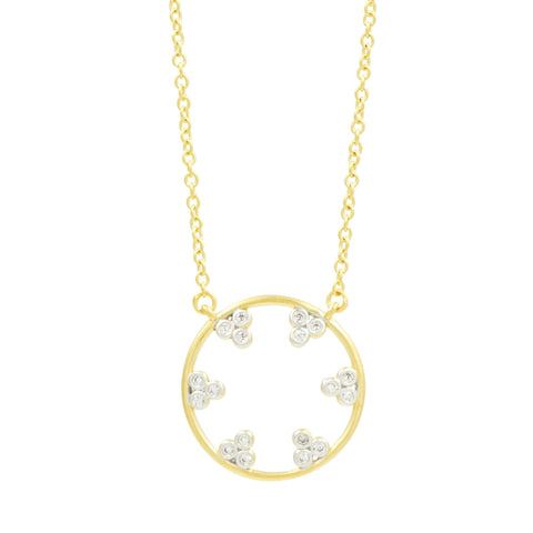 Fleur Bloom Open Pendant Necklace - FREIDA ROTHMAN