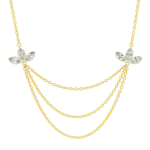 Fleur Bloom Layered Necklace - FREIDA ROTHMAN
