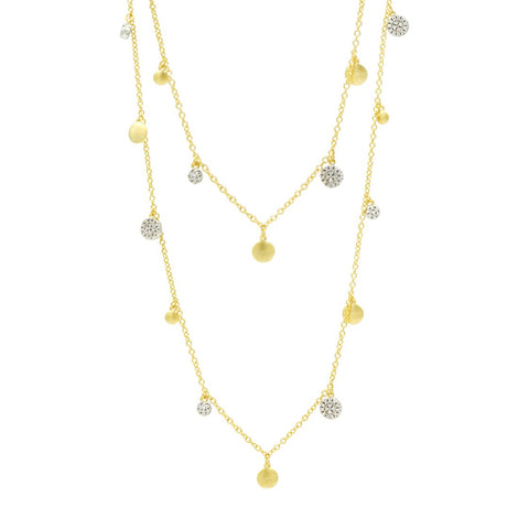 Fleur Bloom EMPIRE Long Strand Charm Necklace