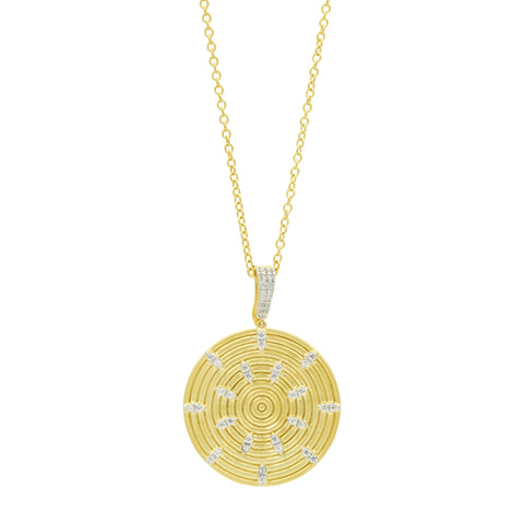 Fleur Bloom EMPIRE Circular Ring Pendant Necklace