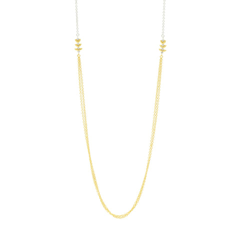 "Fleur Bloom EMPIRE 36"" Station Necklace"