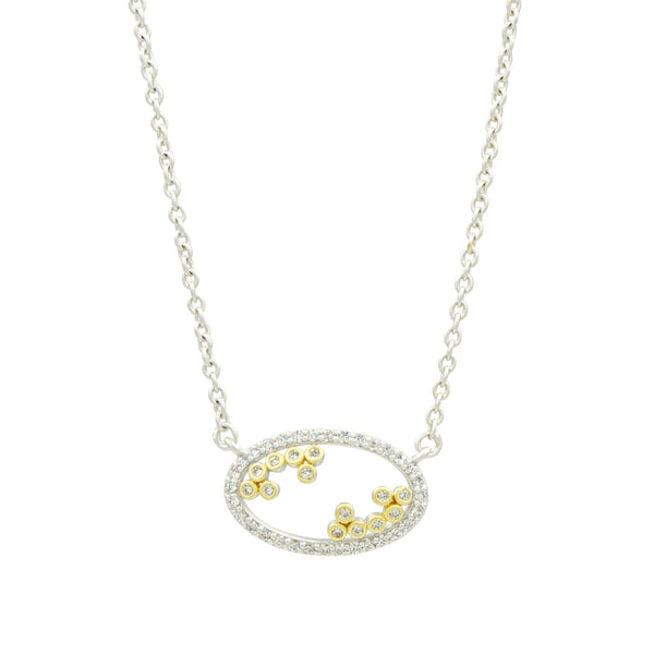 Fleur Bloom Open Pendant Necklace