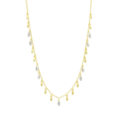 Fleur Bloom EMPIRE Gold and Pavé Short Chain Necklace