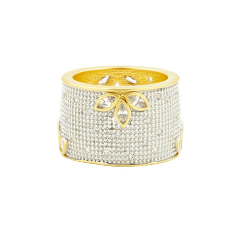 Fleur Bloom All Over Cigar Band Ring - FREIDA ROTHMAN