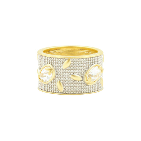 Fleur Bloom Wide Band Ring - FREIDA ROTHMAN
