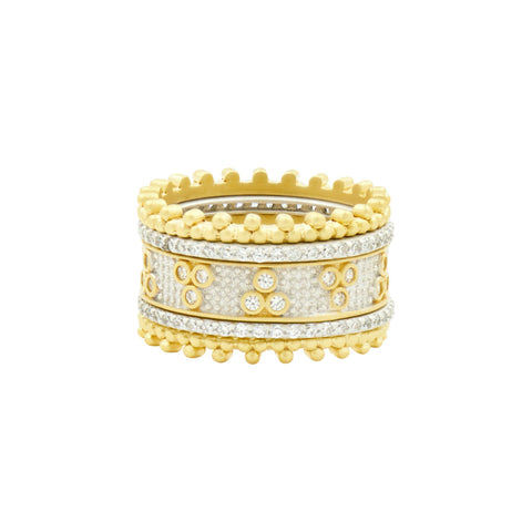 Fleur Bloom 5-Stack Ring - FREIDA ROTHMAN