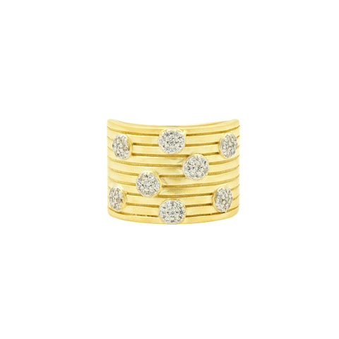 Fleur Bloom EMPIRE Layered Wide Band Ring