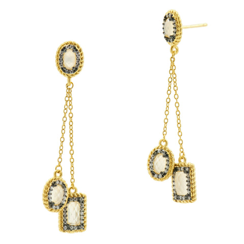 Gilded Cable Delicate Drop Earrings
