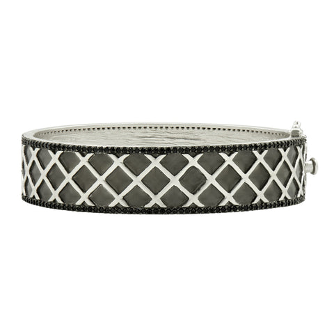 Criss Cross Wide Hinge Bangle