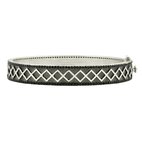 Criss Cross and Pavé Hinge Bangle