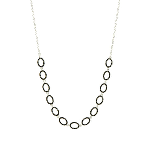 Industrial Finish Pavé Short Chain Necklace