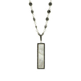 Industrial Finish Rectangle Pendant Necklace