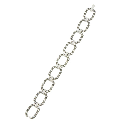 Industrial Finish Pave Soft Chain Bracelet - FREIDA ROTHMAN