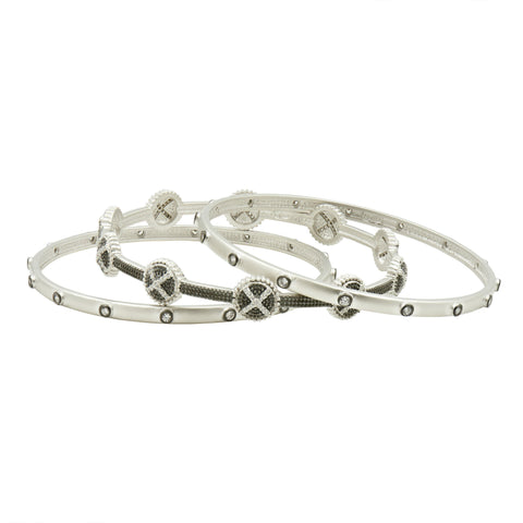Industrial Finish Bangle Stack - FREIDA ROTHMAN