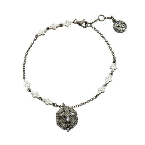 Industrial Finish Single Chain Ball Charm Bracelet