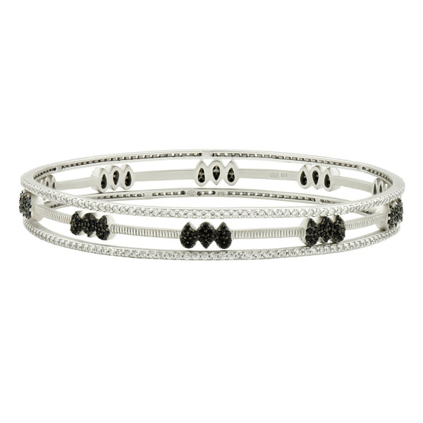Pavé Slide-On 3-Stack Bangles